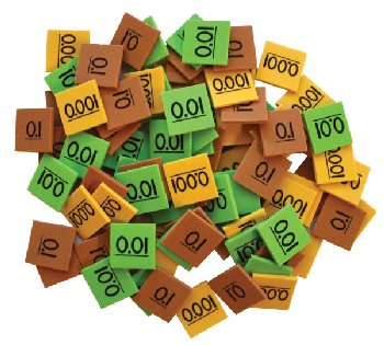 Place Value Decimal Tiles Class Set (1350 tiles)