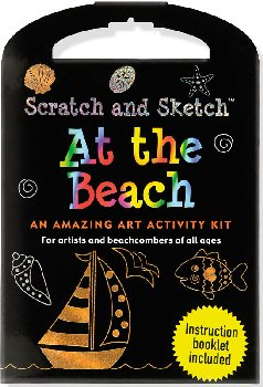 At the Beach Scratch and Sketch Activity Kit