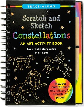 Constellations Scratch and Sketch Trace-Along Activity Book