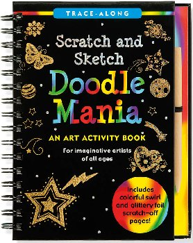 Doodle Mania Scratch and Sketch Trace-Along Activity Book