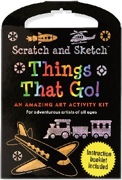 Things That Go! Scratch and Sketch Actvty Kit