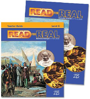 Zaner-Bloser Read for Real Level G Home School Bundle - Student Edition/Teacher Edition