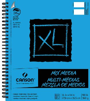 "Canson XL Mix Media Pad 11"" x 14"" (60 Sheets)"
