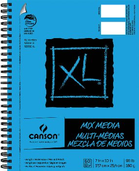 "Canson XL Mix Media Pad 7"" x 10"" (60 Sheets)"