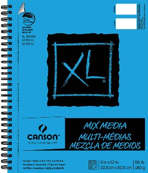"Canson XL Mix Media Pad 9"" x 12"" (60 Sheets)"