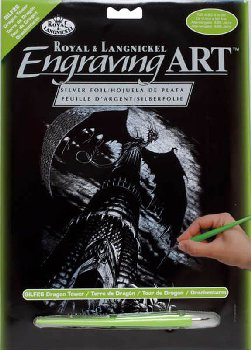 Engraving Art - Dragon Tower (Silver Foil)
