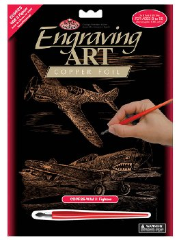 Engraving Art - WWII Fighter (Copper Foil)
