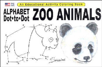 Alphabet Dot-to-Dot Zoo Animals Activity Book