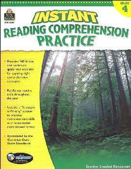 Instant Reading Comprehension Practice - Gr.4