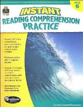 Instant Reading Comprehension Practice - Gr.6