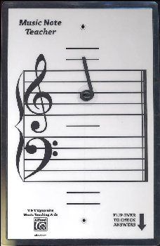 Alfred's Music Note Teacher All-In-One Flashcards (White)