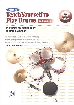 Alfred's Teach Yourself to Play Drums Book with CD & DVD