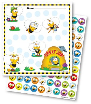 Mini Incentive Charts with Stickers - Buzz-Worthy Bees
