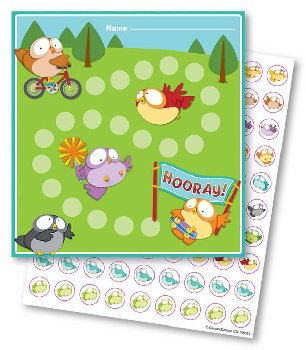 Mini Incentive Charts with Stickers - Owl Pals