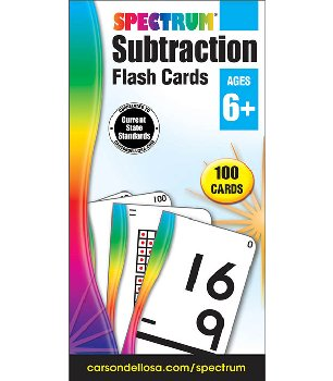 Spectrum Flash Cards Subtraction (100 cards)