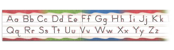 Manuscript Alphabet Desk Strip