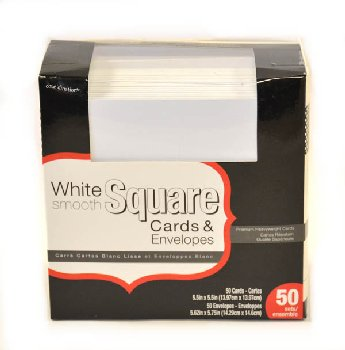 White Cards & Envelopes (5.5 x 5.5 cards & 5.625 x 5.75 envelopes) - 50 sets