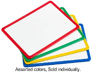 Magnetic Plastic Framed Whiteboard - Assorted Color