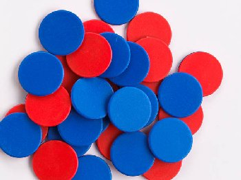 Red/Blue 2-Color Counters - Set of 10