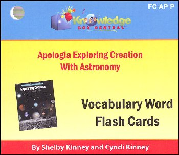 Apologia Exploring Creation with Astronomy Vocabulary Flashcards (Printed)