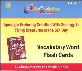Apologia Exploring Creation with Zoology 1 Flying Creatures of the 5th Day Vocabulary Flashcards (Printed)