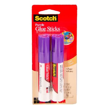 Scotch Purple Glue Sticks,0.28 oz - pack of 2