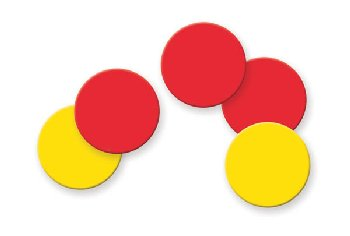 Magnetic Two-Color Counters - Set of 200