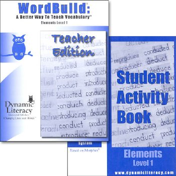 WordBuild Elements Level 1 Combo: Teacher & Student Activity Book