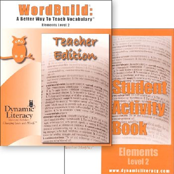 WordBuild Elements Level 2 Combo: Teacher & Student Activity Book