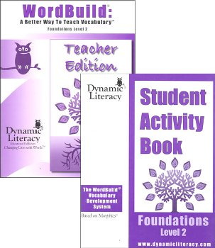 WordBuild Foundations Level 2 Combo: Teacher & Student Activity Book