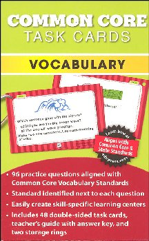 Common Core Vocabulary Task Cards Grade K