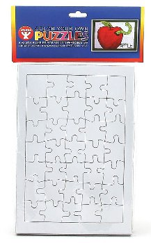 Color-Your-Own Puzzles:Rectanglr 6.5x9.5 6/pk