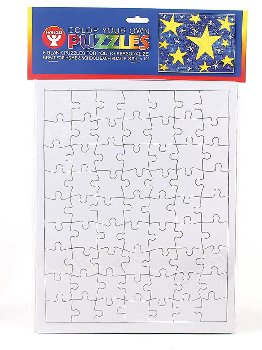 Color-Your-Own Puzzles:Rectangulr 9.5x12 6/pk