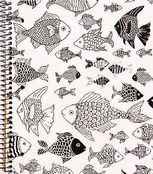 Creation Series 1-Section Notebook: Fish Ink Doodle
