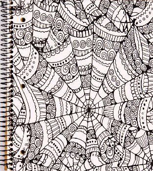 Creation Series 1-Section Notebook: Kaleidoscope Ink Doodle