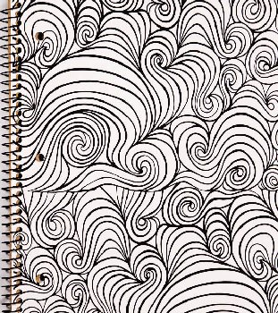 Creation Series 1-Section Notebook: Wavy Ink Doodle