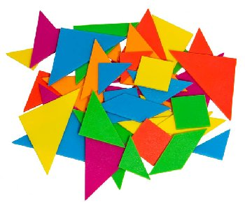 Tangrams (Brights) -  6 Sets (1 of each color)