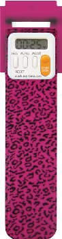 Mark-My-Time Digital Booklight Pink Leopard