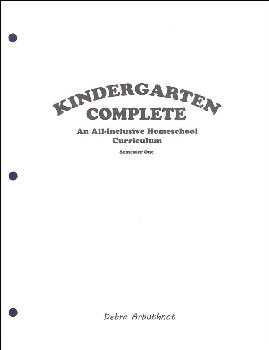 Kindergarten Complete: Semester One - Student Workbook Refill Pages