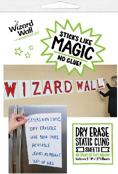"Wizard Wall Pre Cut Sheets - White Film (9"" x 12"") package of 5"