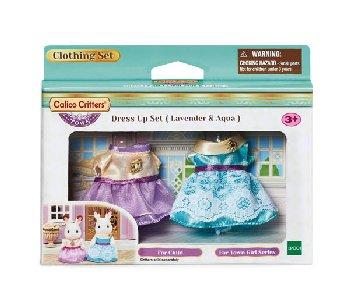 Dress-Up Set - Lavender & Aqua (Calico Critters)