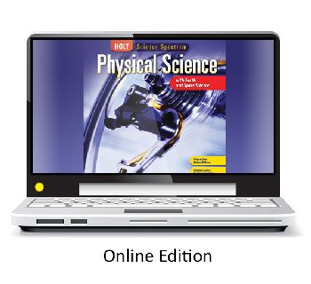 Holt McDougal Science Spectrum: Physical Science with Earth and Space Online Access Renewal (1 year)