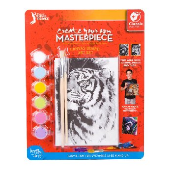 "Create Your Own Masterpiece: Gorilla & Tiger Set 5"" x 7"""