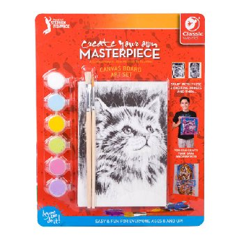 "Create Your Own Masterpiece: Tiger & Kitten Set 5"" x 7"""