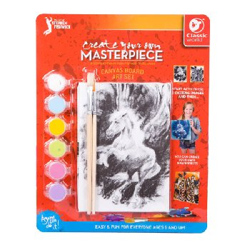 "Create Your Own Masterpiece: Pegasus & Zebra Set 5"" x 7"""