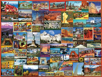 Best Places in America Puzzle - 1000 pieces
