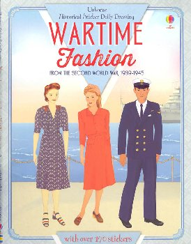 Sticker Dolly Dressing Wartime Fashion From the 2nd World War