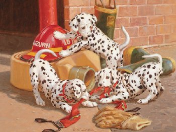 Dalmation Firehouse Puzzle (Family 400 Piece Puzzle)