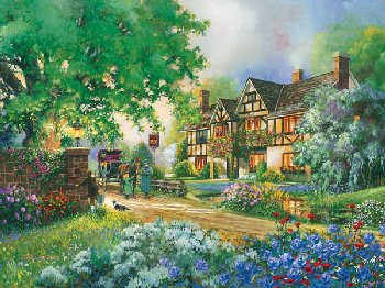 Old Coach Inn Puzzle (Easy Handling 275 Piece Puzzle)