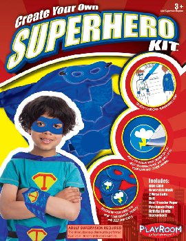 Create Your Own Superhero Kit - Blue Cape